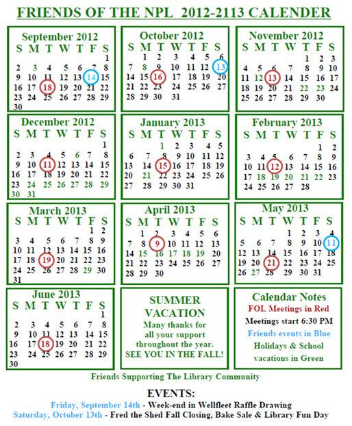 FNPL 2012-2013 Calendar
